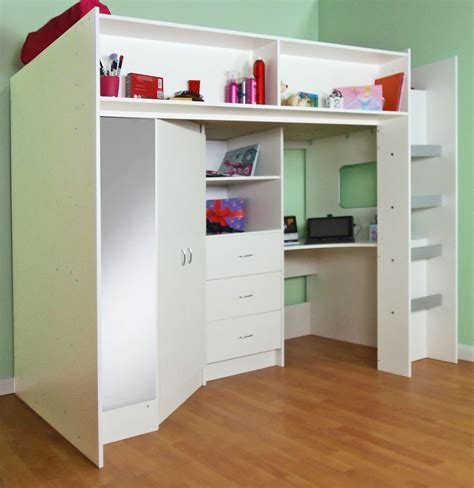 cheap loft beds with desk high sleeper cabin bed model stamford m0860