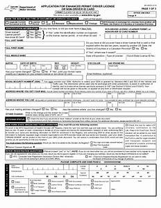 Form mv 44edl application for enhanced permit driver for Dmv documents renew license