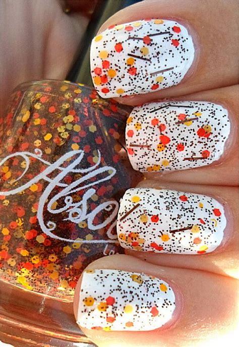 cool thanksgiving  fall nail designs hative
