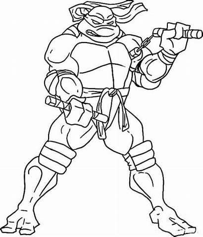 Ninja Coloring Attractive Hard Turtles Michelangelo Forget