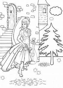 Ausmalbild Mrchen Prinzessin Kostenlose