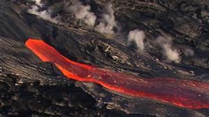 Lava Flows From Hawaii U0026 39 S Kilauea Volcano