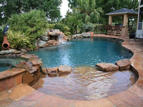 Small Pond Waterfall, Building A Natural Swimming Pool