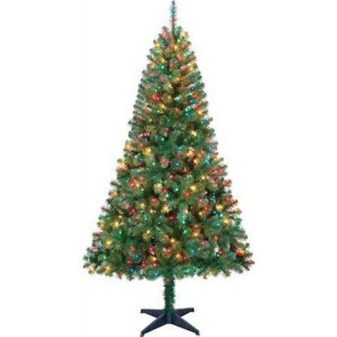 green light christmas tree 6 5 ft pre lit artificial christmas tree multi color