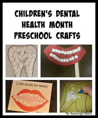 dental health month kid crafts the resourceful 468 | childrens dental health month preschool crafts1 e1436498229421
