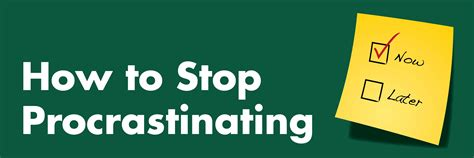How To Stop Procrastinating  Student Health And