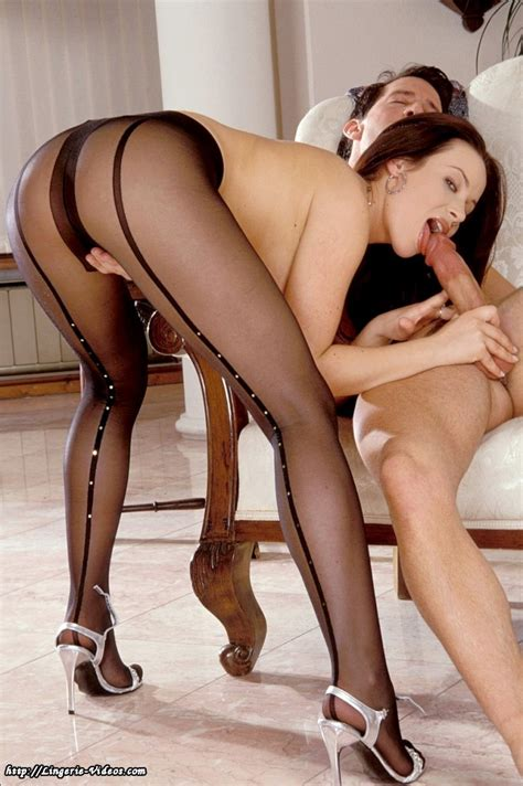 Sexy Brunette Fucking In Seamed Stockings Porn Photos