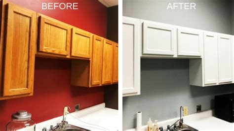 cabinet painting upgrade local doctors office white