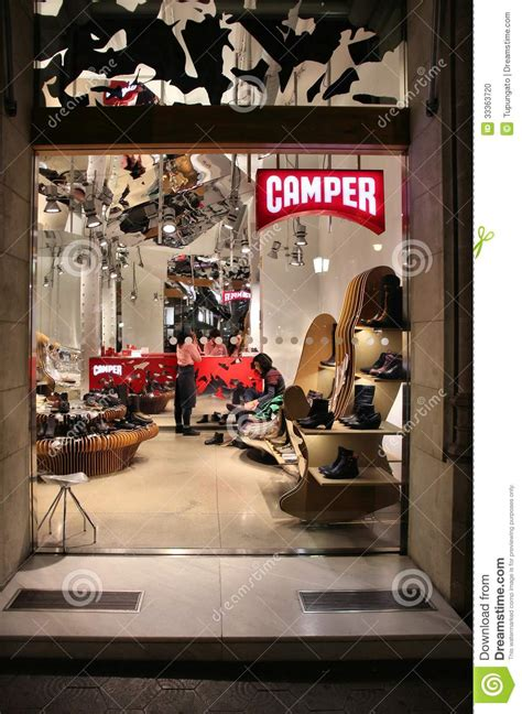 camper shoe store editorial image image  business
