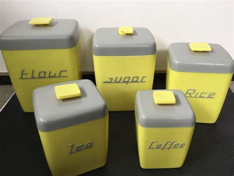 Canister Sets Australia by Nally Ware Yellow And Grey Canister Set Can All Do With