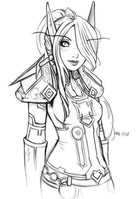 blood elf paladin  szienna  atdeviantart coloring pages female elf elf warrior