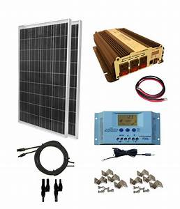 Complete 200 Watt Solar Panel Kit with 1500W VertaMax ...
