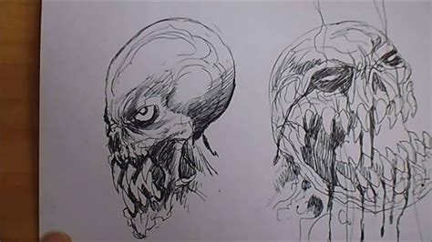 drawing monster head ideas youtube
