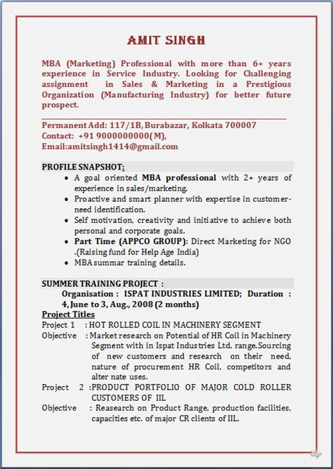 curriculum vitae of mis executive resume co may 2014