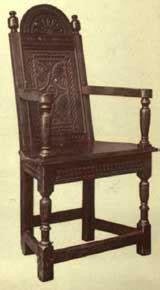 jacobean chairs varieties  ornamentation