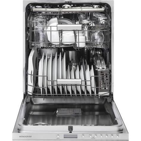 ge zdtspjss monogram   smart built  dishwasher   wash cycles wi fi enabled