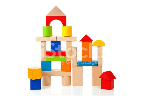 house made of blocks house made out of colorful wooden building blocks stock photos freeimages com