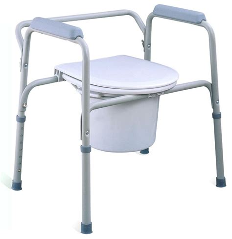 economical steel three in one commode chair without wheels