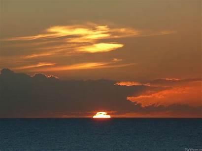 Horizon Sunset Ocean Screen Sun Horizons Setting