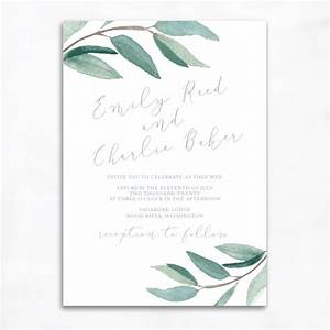 Lovely eucalyptus wedding invitations smitten on paper for Wedding invitations with eucalyptus