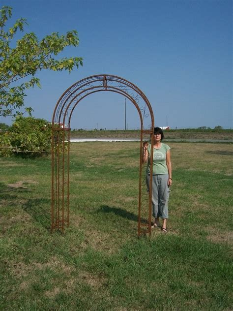Metal Arch Trellis by Wrought Iron Top Garden Trellis Arches 60 Quot