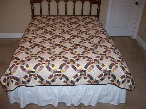 double wedding ring king size quilt quilted king size etsy