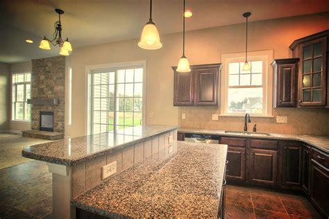 granite top kitchen island breakfast bar the large open kitchen with adjoining breakfast area 8342