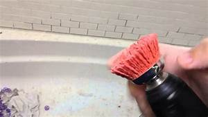 How to remove dried grout or mortar from tile youtube for How to remove grout from floor tile