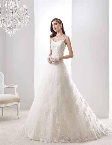 A Line Wedding Dress Tank Sweetheart Lace Appliques