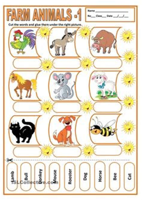 worksheets  preschoolers matching animals match