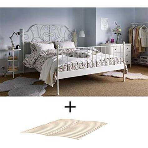 ikea size metal country style bed frame with slatted
