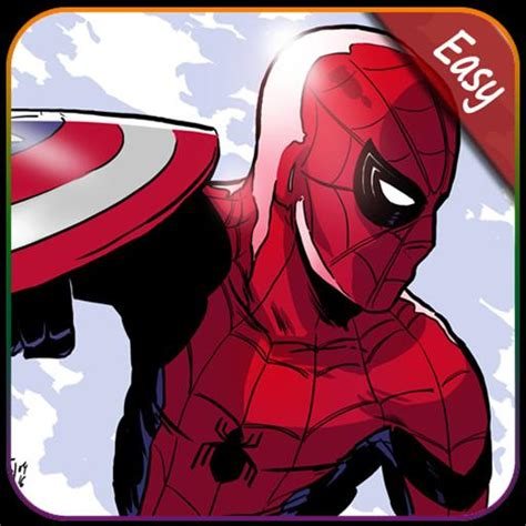 draw spiderman homecoming  android apk