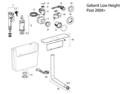 geberit  height cistern post  toilet spares