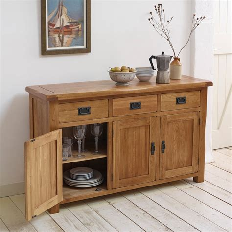 Large Sideboard Oak by Original Rustic Large Sideboard In Solid Oak Oak