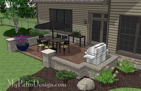 my patio design diy rectangular patio design with seat walls