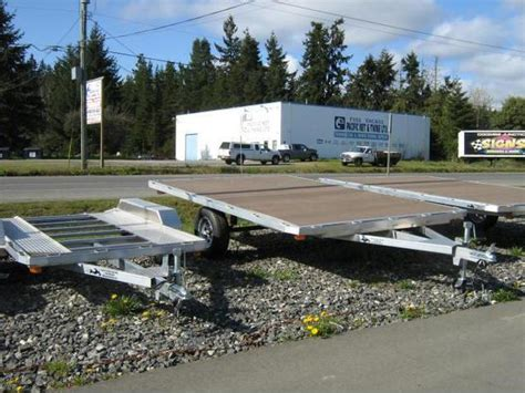 all aluminum 8x12 deck over sled deck outside kootenay