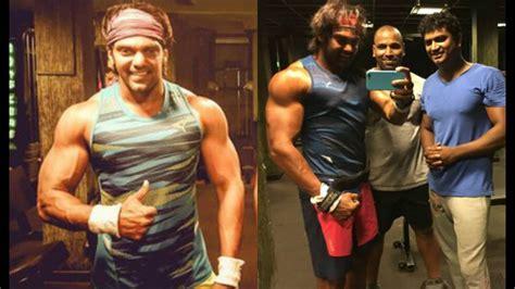 arya tamil actor arya gym workout  video hot tamil