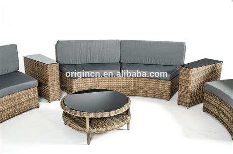 088 beige high quality rattan curved balcony