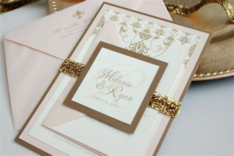southern glamour panel invitation suite gold blush