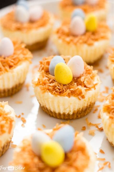Egg yolks have a lower water content than the white that surrounds them, but contain higher. Easter Bird's Nest Mini Cheesecakes - Fox and Briar