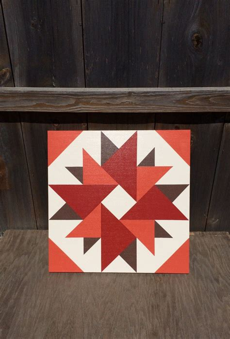 Painted Barn Quilts by Painted Rustic Barn Quilt 2 X2 Aster