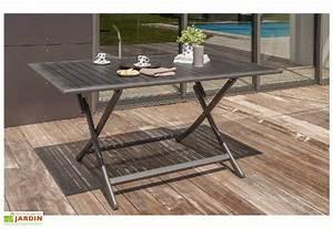 Salon De Jardin Pliant : table de jardin pliante miami en aluminium 140x80cm dcb ~ Dailycaller-alerts.com Idées de Décoration