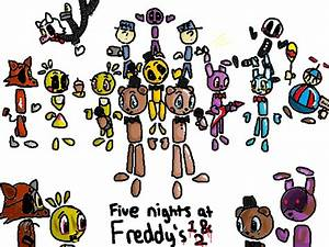 Fnaf Characters 1 2 by CloudtheHen on DeviantArt