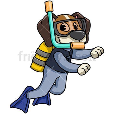 Scuba Diver Clipart Beagle Scuba Diving Vector Clipart Friendlystock