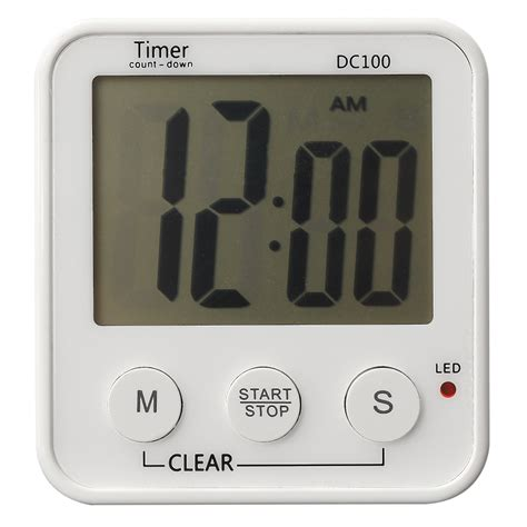 timer cuisine large lcd digital kitchen cooking timer count up