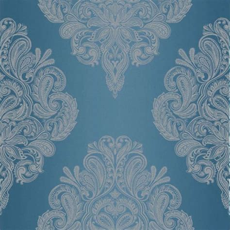 teal  silver damask wallpaper gallery