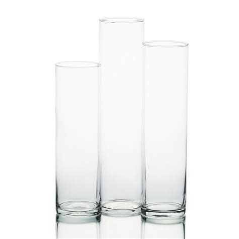 cylinder vases eastland cylinder glass vases 13 quot 15 quot 17 quot and