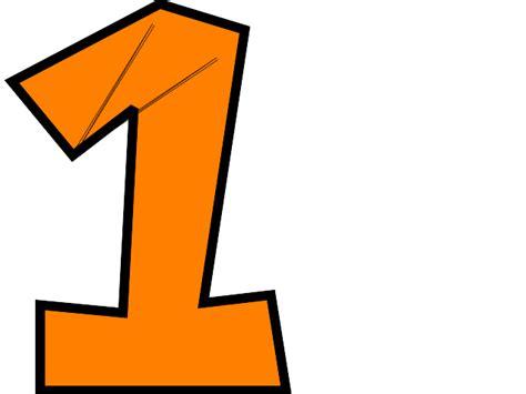 Orange Number 4 Clip Art