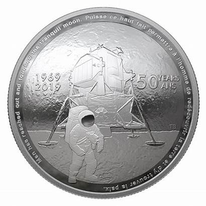 Apollo Coin Moon Landing Silver 50th Canada