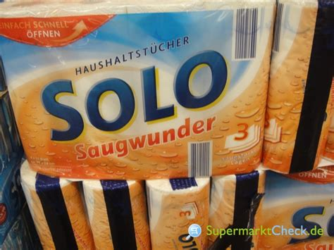 Solo Saugwunder Haushaltsrollen 3-lagig, 4 X 51 Blatt